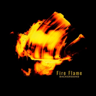 Abstract brand vlam ontwerp achtergrond