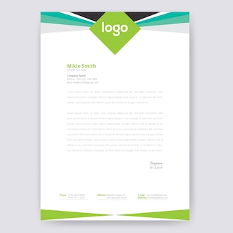 Abstract briefpapier template