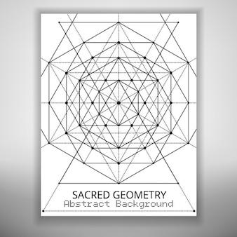 Abstract brochure sjabloon met heilige geometrie tekening