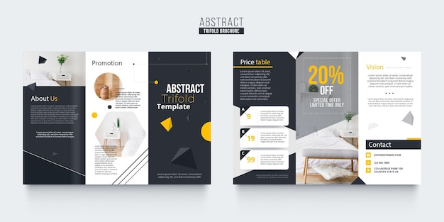 Abstract brochure sjabloonontwerp