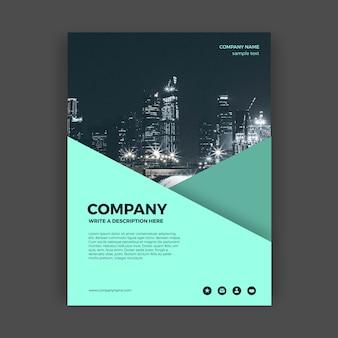 Abstract business brochure sjabloon