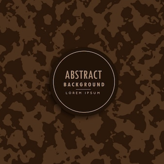 Abstract camouflage patroon in bruine tint