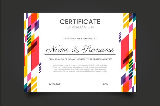 Abstract certificaatsjabloon