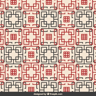 Abstract chinees geometrisch patroon