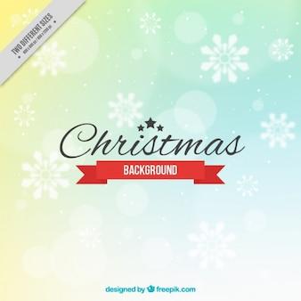 Abstract christmas bokeh achtergrond met sneeuwvlokken