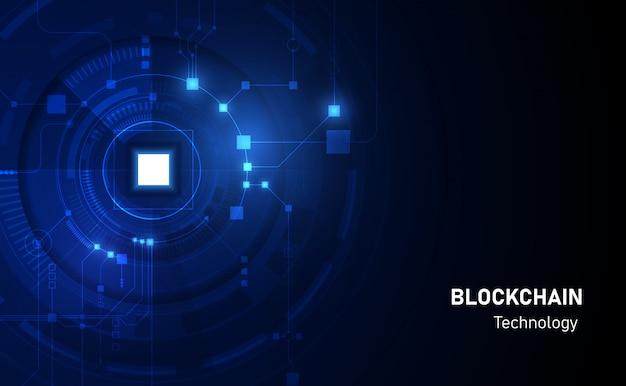 Abstract circuit netwerken blockchain