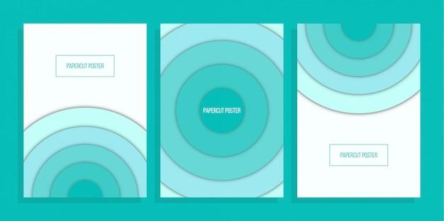 Abstract cirkel blauw omslagontwerp