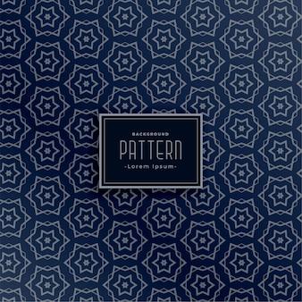 Abstract cirkel en sterstijl naadloos patroon