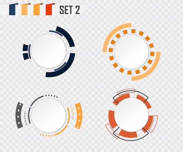 Abstract cirkel grijs-wit kleurrijk communicatieontwerp