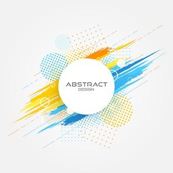 Abstract cirkel grunge ontwerp.