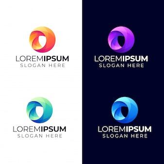 Abstract cirkel-logo