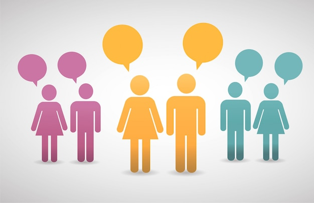 Abstract concept mensen praten