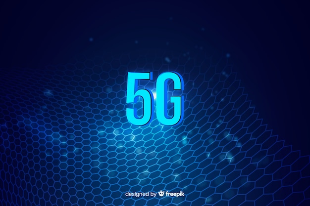Abstract concepten grafisch element met 5g