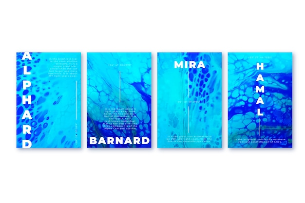 Abstract covers collectie concept