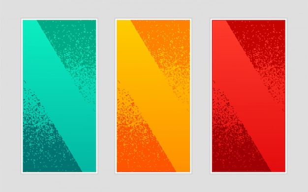 Abstract creatief trendy malplaatje van achtergrond modieus golvend verticaal banners