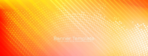 Abstract decoratief modern bannerontwerp