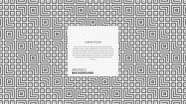 Abstract decoratief vierkant lijnenpatroon
