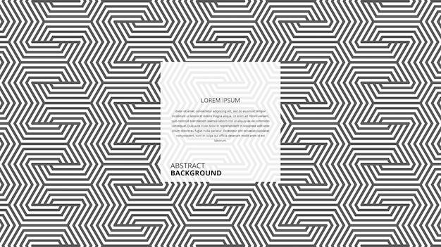 Abstract decoratief zeshoekig lijnenpatroon