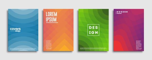 Abstract dekt ontwerpsjabloon. geometrische achtergrond met kleurovergang. achtergrond voor decoratiepresentatie, brochure, catalogus, poster, boek, tijdschrift