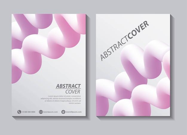 Abstract dekt vloeistoffen witte banners