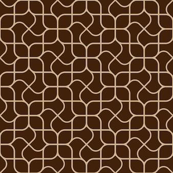 Abstract delicaat geometrisch naadloos patroon met gebogen lijnen