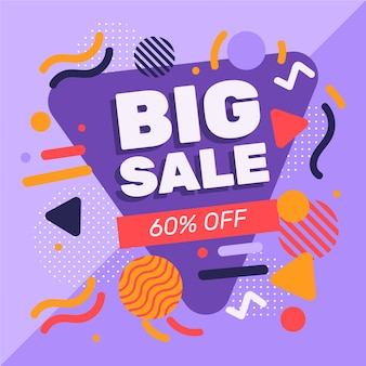 Abstract design verkooppromotie met 60% korting