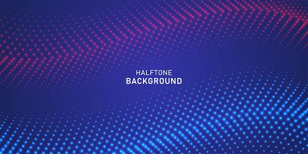 Abstract digitaal golfdeeltje op blauwe achtergrond