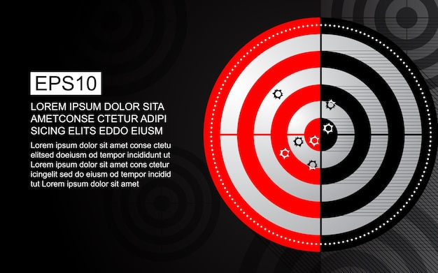 Abstract doel schietbaan bullet hole