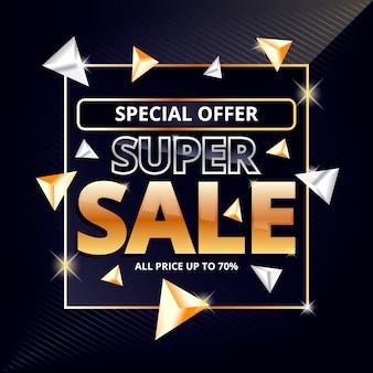 Abstract donker verkoopbehang met speciale aanbieding
