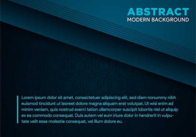 Abstract donkerblauw geometrisch hexagon technologieontwerp, moderne futuristische achtergrond