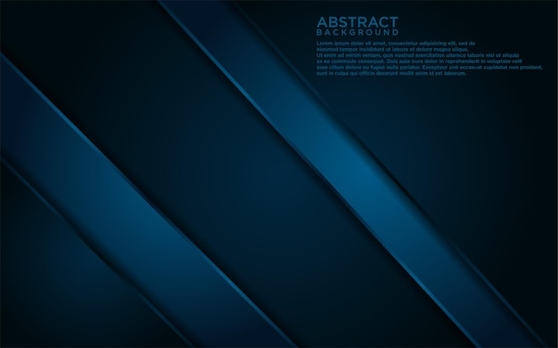 Abstract donkerblauw lijnen en vorm achtergrondontwerp