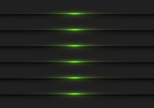 Abstract donkergroen licht op de zwarte achtergrond van het metaalblind.