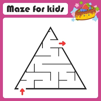 Abstract doolhof spel voor kinderen puzzel voor kinderen coon-stijl labyrinth-raadsel