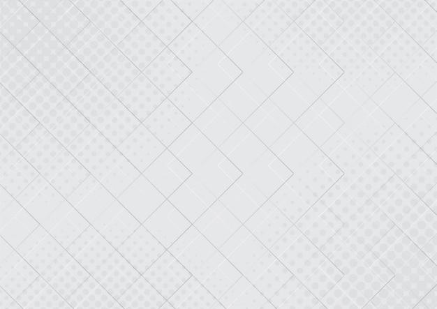Abstract doorschijnend geometrisch met halftoon effect witte en grijze achtergrond met kleurverloop.