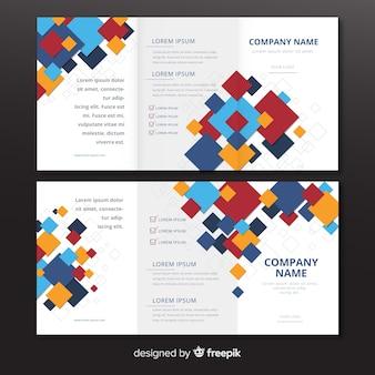 Abstract driebladig brochuremalplaatje