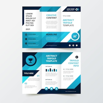 Abstract driebladig brochurethema