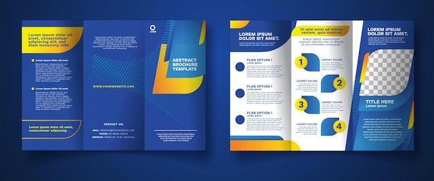 Abstract driebladige brochure concept