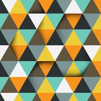 Abstract driehoekspatroon met exemplaarruimte