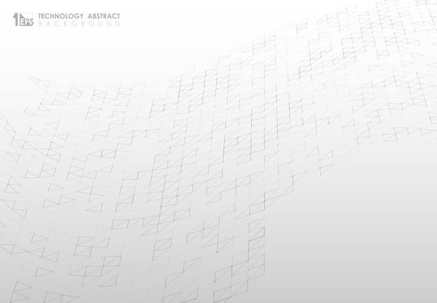 Abstract driehoekspatroon van de achtergrond van het technologienetwerk.