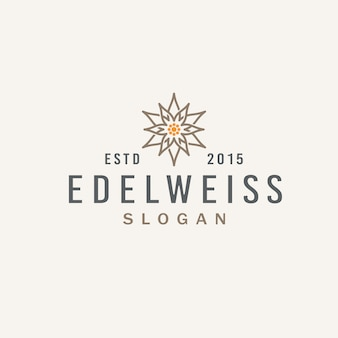 Abstract edelweiss bloem vintage logo design