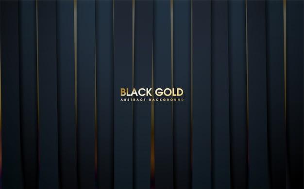 Abstract een van een zwart ijzeren blok met goud eronder.