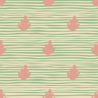 Abstract eiken naadloos patroon op streepachtergrond. eenvoudig natuurbehang.