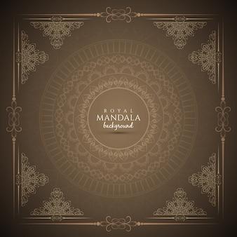 Abstract elegant koninklijk mandala achtergrond ontwerp