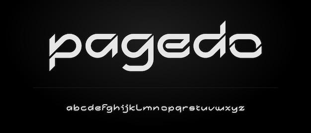 Abstract elegant modern alfabet met stedelijke stijlsjabloon