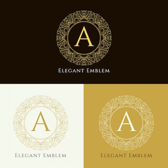 Abstract elegant monogramembleemontwerp