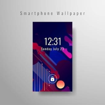 Abstract elegant smartphonebehangontwerp