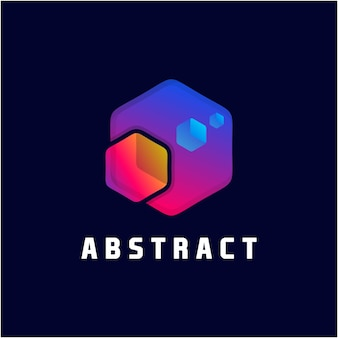 Abstract element hexagon awesome gradient color