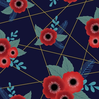 Abstract floral patroon achtergrond