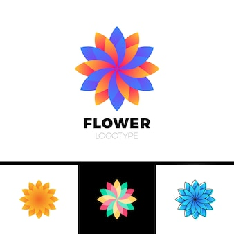 Abstract flower resort spa-logo