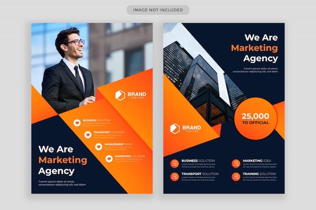 Abstract flyer ontwerp en zakelijke brochure cover jaarverslag sjabloon